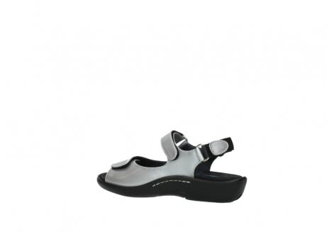 wolky sandalen 1300 salvia 820 grijs metallic lakleer_3