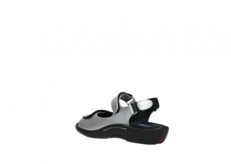 wolky sandalen 1300 salvia 820 grijs metallic lakleer_4