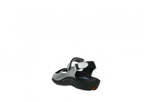 wolky sandalen 1300 salvia 820 grijs metallic lakleer_5