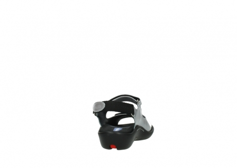 wolky sandalen 1300 salvia 820 grijs metallic lakleer_8