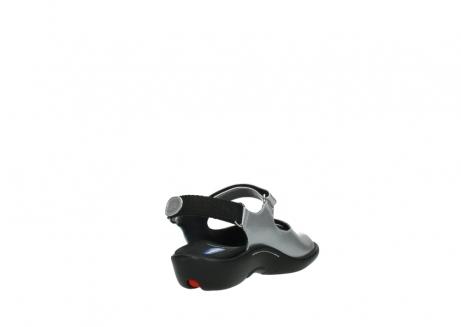 wolky sandalen 1300 salvia 820 grijs metallic lakleer_9