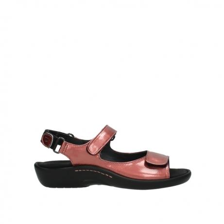 wolky sandalen 1300 salvia 853 koraal rood lakleer