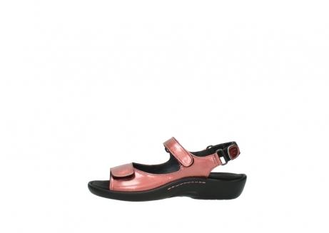 wolky sandalen 1300 salvia 853 koraal rood lakleer_1
