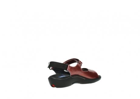 wolky sandalen 1300 salvia 853 koraal rood lakleer_10