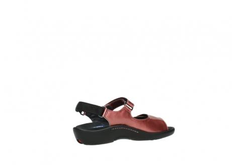 wolky sandalen 1300 salvia 853 koraal rood lakleer_11