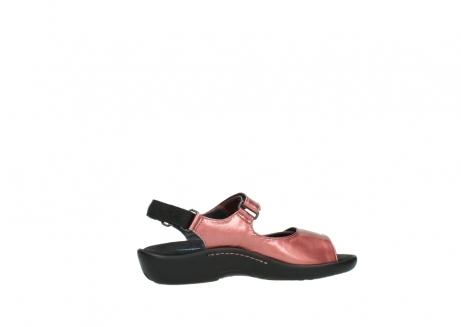 wolky sandalen 1300 salvia 853 koraal rood lakleer_12