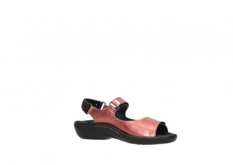 wolky sandalen 1300 salvia 853 koraal rood lakleer_15