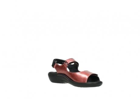 wolky sandalen 1300 salvia 853 koraal rood lakleer_16