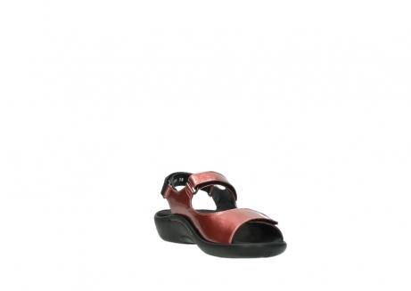 wolky sandalen 1300 salvia 853 koraal rood lakleer_17