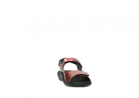 wolky sandalen 1300 salvia 853 koraal rood lakleer_18