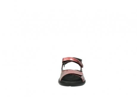 wolky sandalen 1300 salvia 853 koraal rood lakleer_19