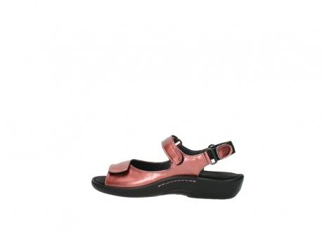 wolky sandalen 1300 salvia 853 koraal rood lakleer_2