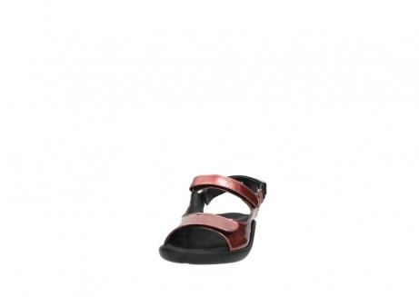 wolky sandalen 1300 salvia 853 koraal rood lakleer_20