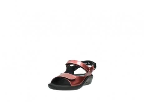 wolky sandalen 1300 salvia 853 koraal rood lakleer_21