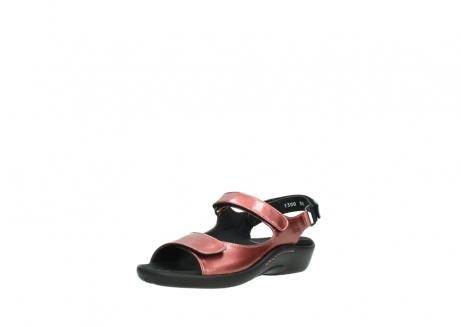 wolky sandalen 1300 salvia 853 koraal rood lakleer_22