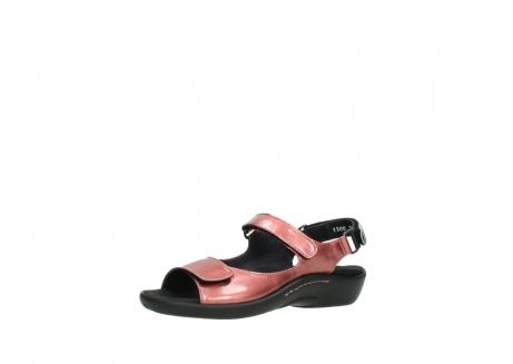 wolky sandalen 1300 salvia 853 koraal rood lakleer_23