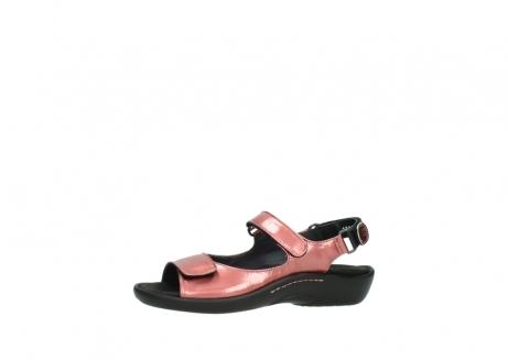 wolky sandalen 1300 salvia 853 koraal rood lakleer_24