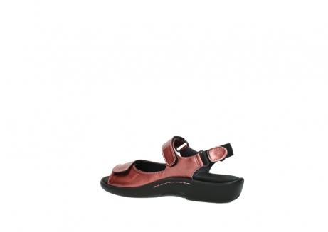 wolky sandalen 1300 salvia 853 koraal rood lakleer_3