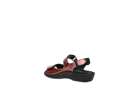 wolky sandalen 1300 salvia 853 koraal rood lakleer_4