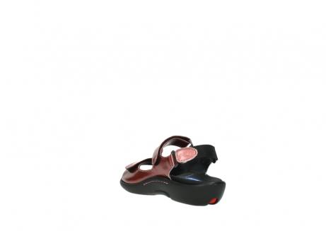 wolky sandalen 1300 salvia 853 koraal rood lakleer_5