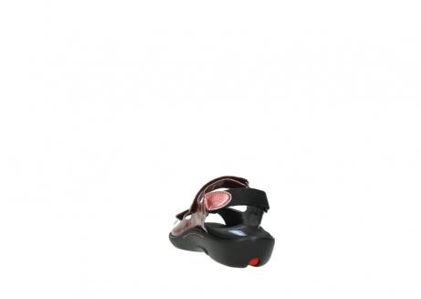 wolky sandalen 1300 salvia 853 koraal rood lakleer_6