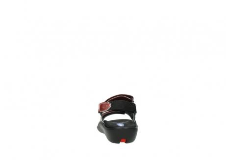 wolky sandalen 1300 salvia 853 koraal rood lakleer_7