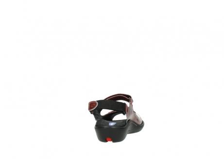 wolky sandalen 1300 salvia 853 koraal rood lakleer_8