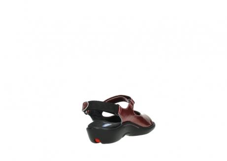wolky sandalen 1300 salvia 853 koraal rood lakleer_9
