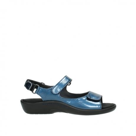 wolky sandalen 1300 salvia 882 denim metallic lakleer