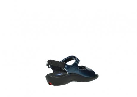 wolky sandalen 1300 salvia 882 denim metallic lakleer_10