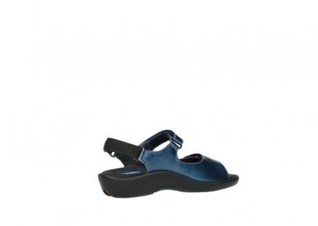 wolky sandalen 1300 salvia 882 denim metallic lakleer_11