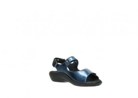 wolky sandalen 1300 salvia 882 denim metallic lakleer_16