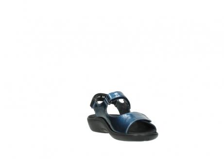 wolky sandalen 1300 salvia 882 denim metallic lakleer_17