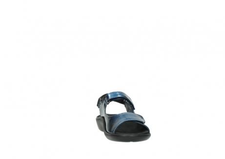 wolky sandalen 1300 salvia 882 denim metallic lakleer_18
