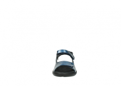wolky sandalen 1300 salvia 882 denim metallic lakleer_19