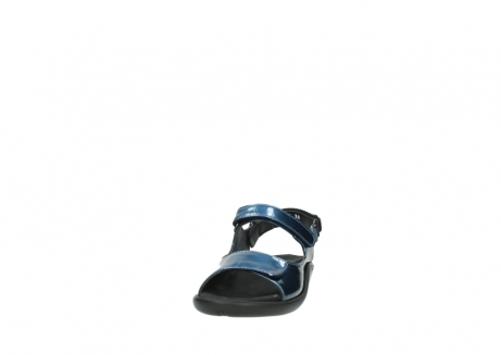 wolky sandalen 1300 salvia 882 denim metallic lakleer_20
