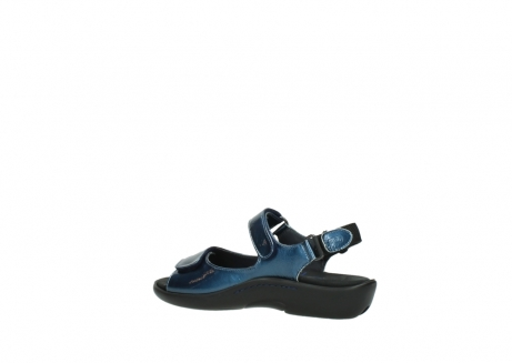 wolky sandalen 1300 salvia 882 denim metallic lakleer_3
