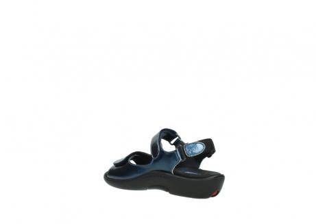 wolky sandalen 1300 salvia 882 denim metallic lakleer_4