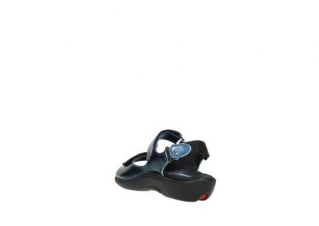 wolky sandalen 1300 salvia 882 denim metallic lakleer_5