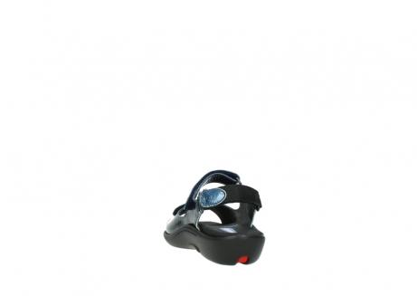 wolky sandalen 1300 salvia 882 denim metallic lakleer_6