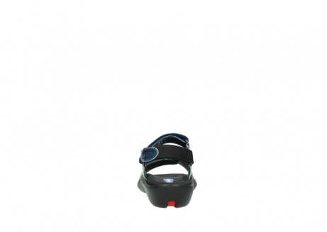 wolky sandalen 1300 salvia 882 denim metallic lakleer_7