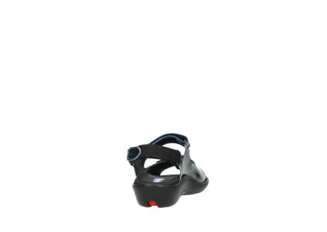 wolky sandalen 1300 salvia 882 denim metallic lakleer_8