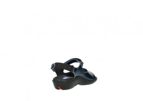 wolky sandalen 1300 salvia 882 denim metallic lakleer_9