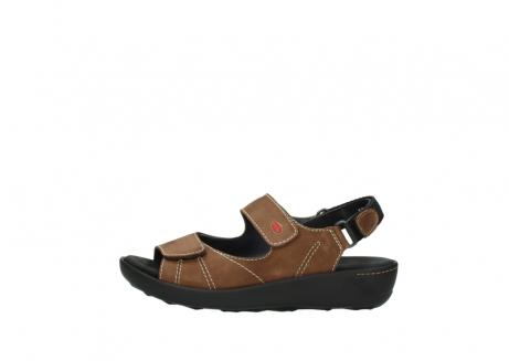 wolky sandalen 1350 lin 131 middenbruin nubuck_1