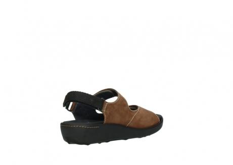 wolky sandalen 1350 lin 131 middenbruin nubuck_10