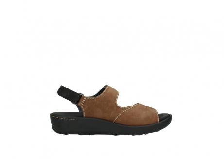 wolky sandalen 1350 lin 131 middenbruin nubuck_13