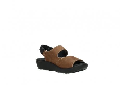 wolky sandalen 1350 lin 131 middenbruin nubuck_16