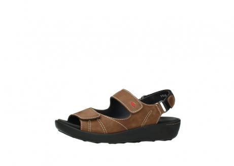 wolky sandalen 1350 lin 131 middenbruin nubuck_24