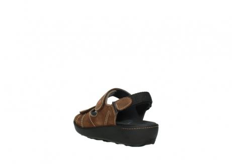 wolky sandalen 1350 lin 131 middenbruin nubuck_5