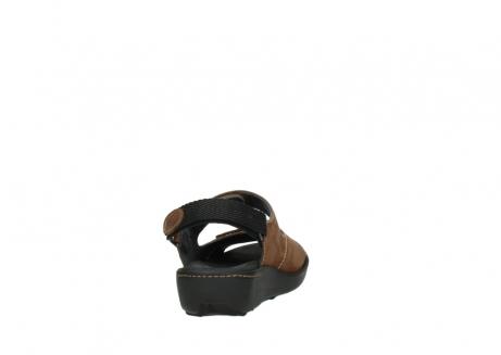 wolky sandalen 1350 lin 131 middenbruin nubuck_8
